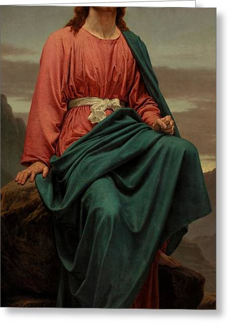 Christian Paintings Greeting Cards - The Man of Sorrows Greeting Card by Sir Joseph Noel Paton