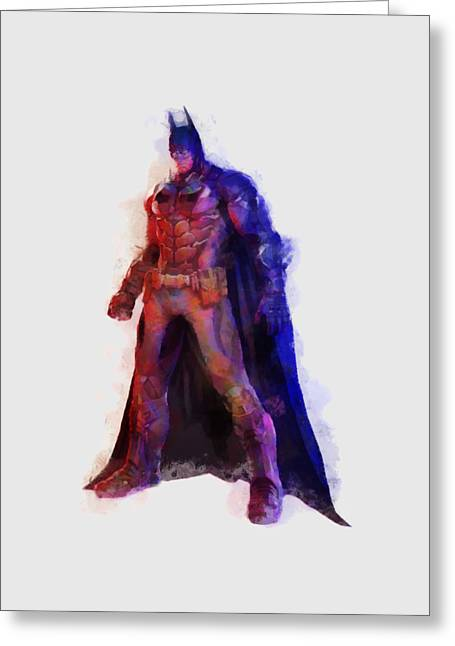The Man With A Cape Greeting Card by Caito Junqueira