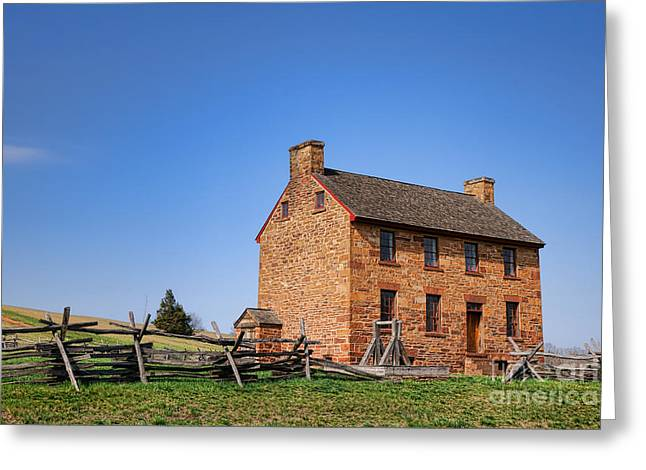 The Manassas Stone House Greeting Card by Olivier Le Queinec