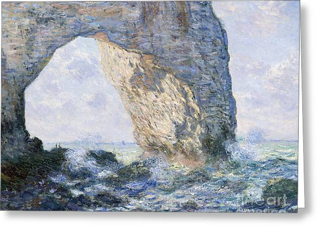 The Manneporte, Etretat, 1883 Greeting Card by Claude Monet