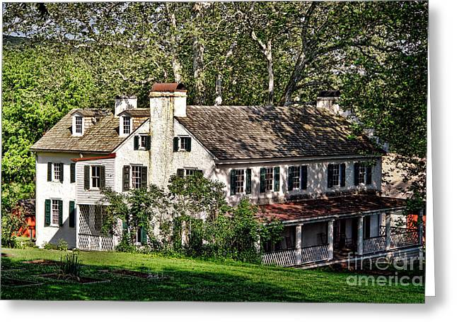 The Mansion At Hopewell Furnace Greeting Card by Olivier Le Queinec