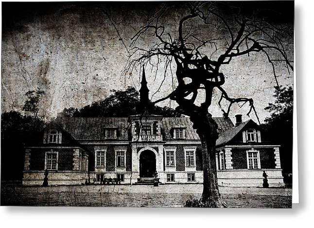 The Mansion Greeting Card by Laura Melis