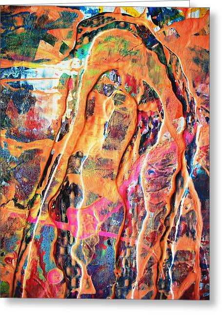 The Many Facets Of Fear Greeting Card by Bruce Combs - REACH BEYOND