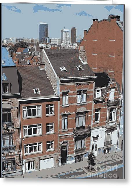 The Many Layers Of Brussels Greeting Card by Carol Groenen