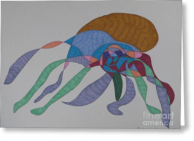 The Many Legged Octopus Of Puget Sound Greeting Card by James Sheppard