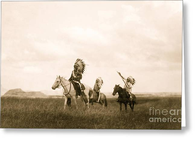 The March Of The Sioux Greeting Card