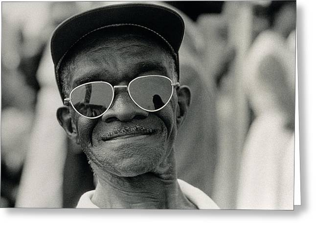 The March On Washington  A Smiling Man At Washington Monument Grounds Greeting Card
