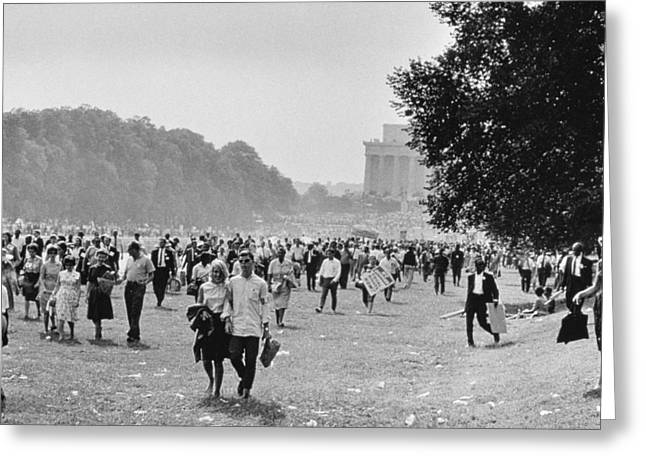 The March On Washington  Heading Home Greeting Card