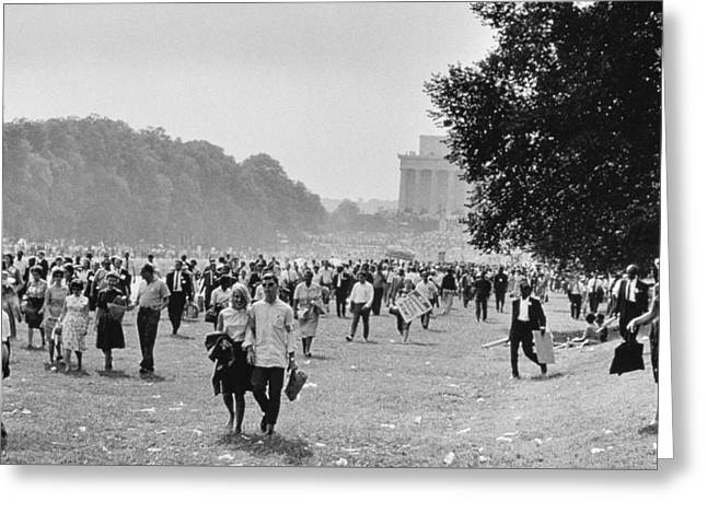 The March On Washington  Heading Home Greeting Card by Nat Herz
