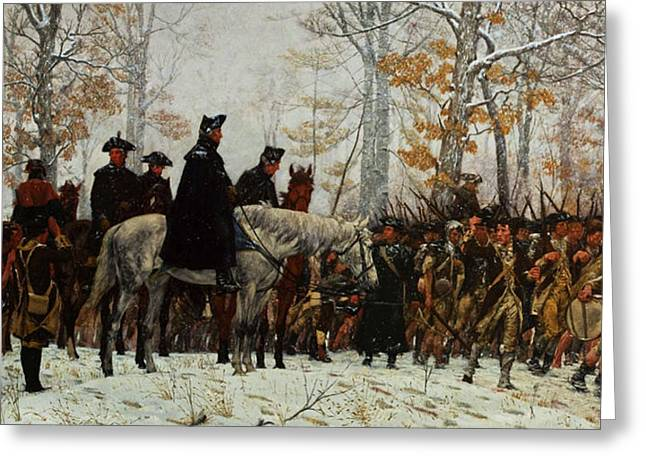 The March To Valley Forge, Dec 19, 1777 Greeting Card