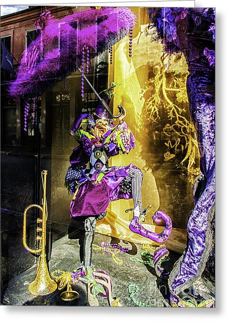 The Mardi Gras Jester Greeting Card