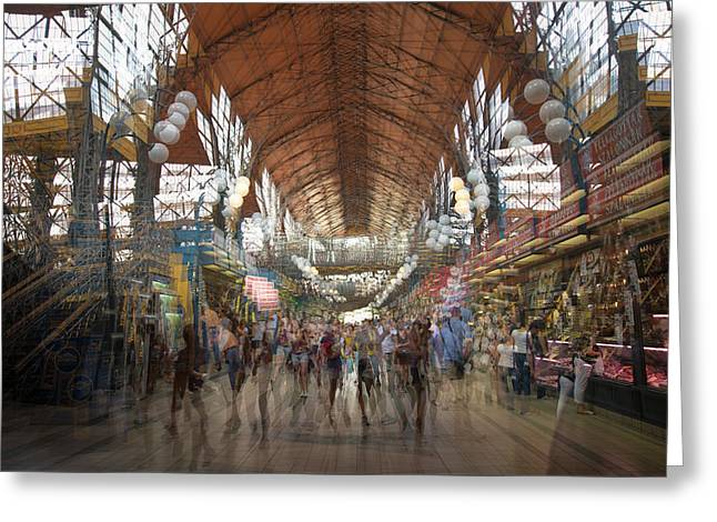 Greeting Card featuring the photograph The Market Hall by Alex Lapidus