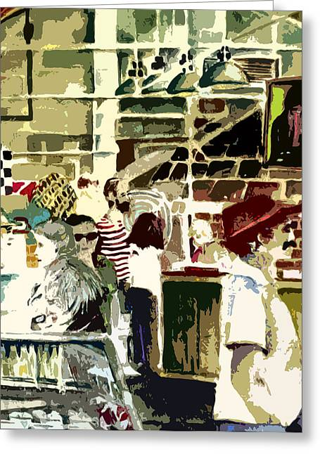 Grocery Store Greeting Cards - The Market Greeting Card by Mindy Newman