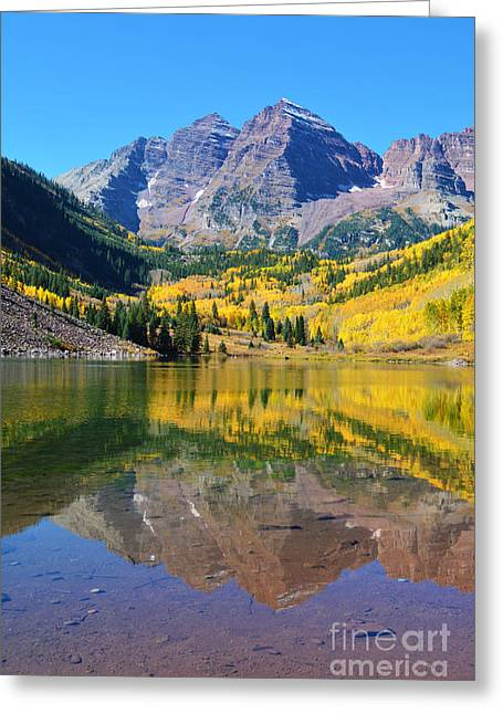 The Maroon Bells Greeting Card