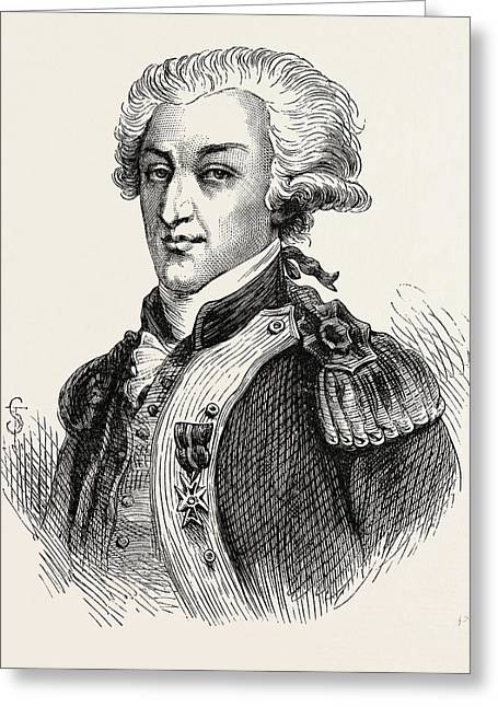 The Marquis De Lafayette Greeting Card