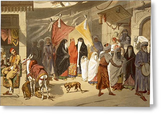 The Marriage Of An Arab In Cairo Greeting Card by French School