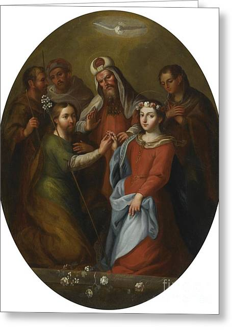 The Marriage Of The Virgin Greeting Card by Celestial Images