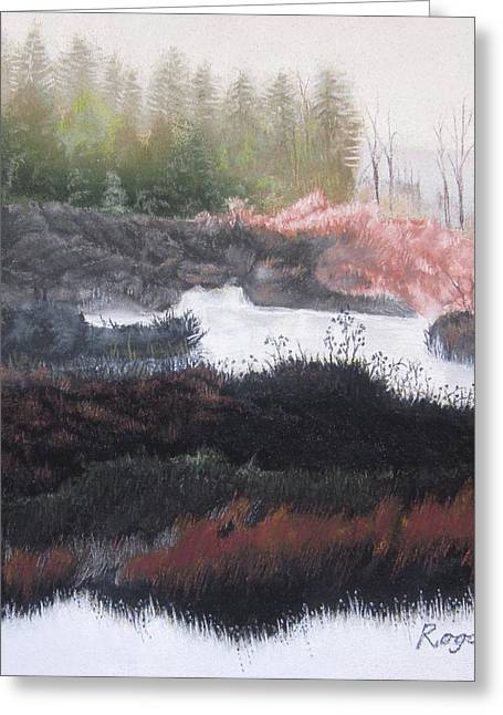 The Marsh Of Changing Color Greeting Card by Harvey Rogosin