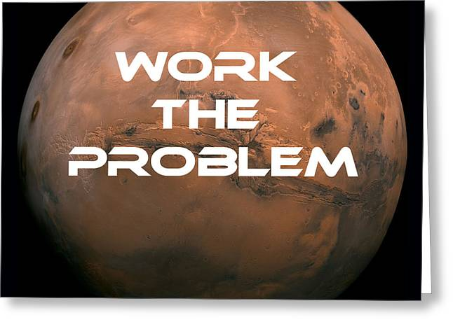 The Martian Work The Problem Greeting Card by Edward Fielding