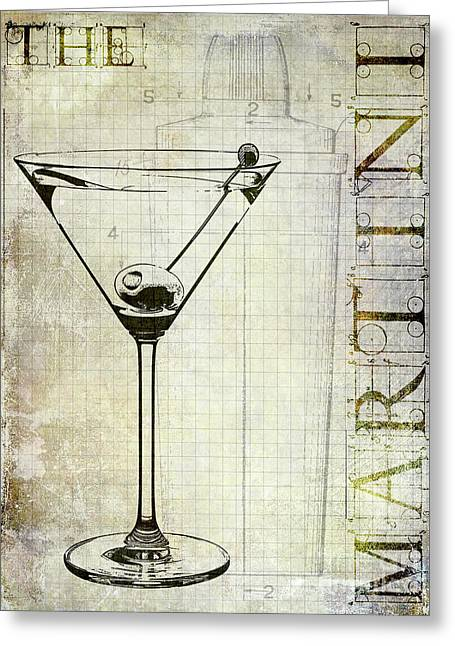The Martini Greeting Card by Jon Neidert