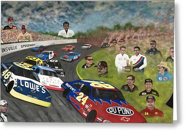 The Martinsville Speedway Greeting Card by Charles Hill