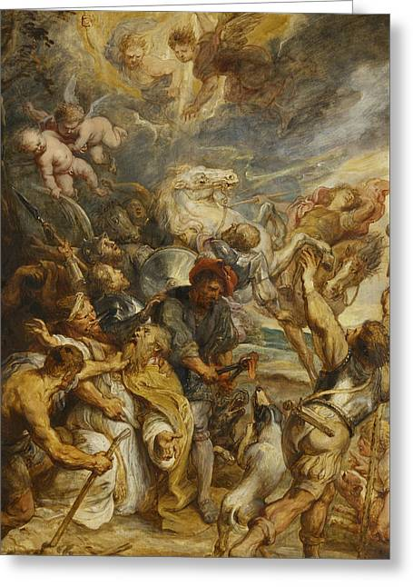 The Martyrdom Of Saint Livinus Greeting Card by Peter Paul Rubens