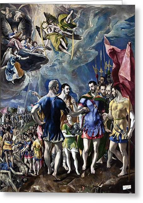 The Martyrdom Of St Maurice Greeting Card by El Greco