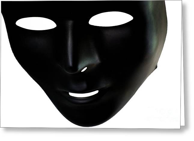The Mask In Black And White Greeting Card