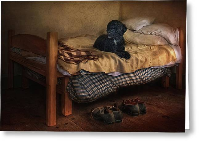 The Master's Shoes Greeting Card by Robin-Lee Vieira
