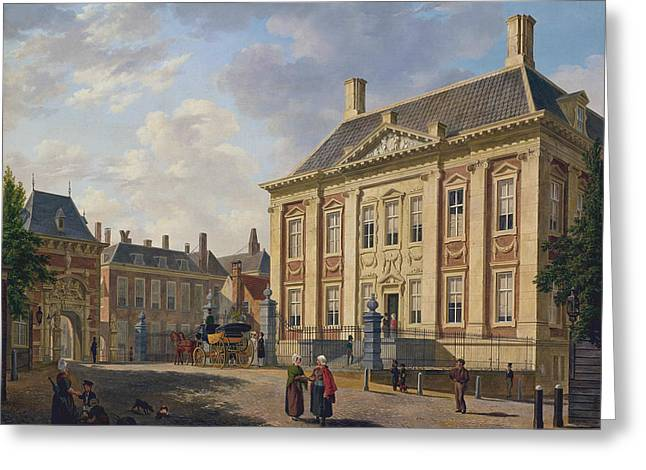 The Mauritshuis In The Hague Greeting Card by Bartholomeus van Hove