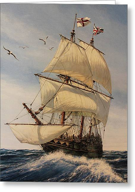 The Mayflower Greeting Card by Dan Nance