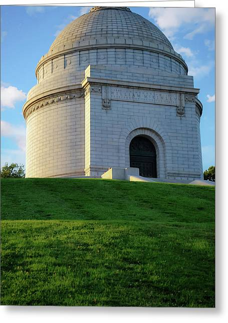 The Mckinley Monument - Canton Ohio Greeting Card by Gregory Ballos