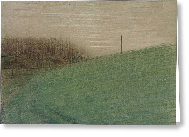 The Meadow Greeting Card by Georges-Pierre Seurat