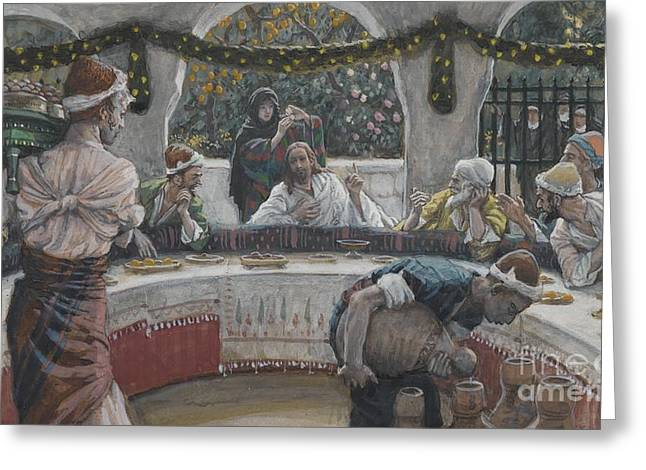 The Meal In The House Of The Pharisee Greeting Card