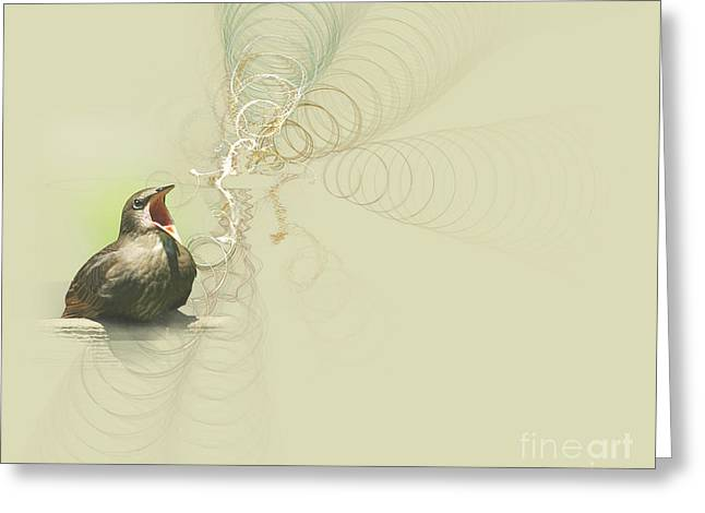 Greeting Card featuring the photograph The Mechanical Energy Of Sound by Jan Piller