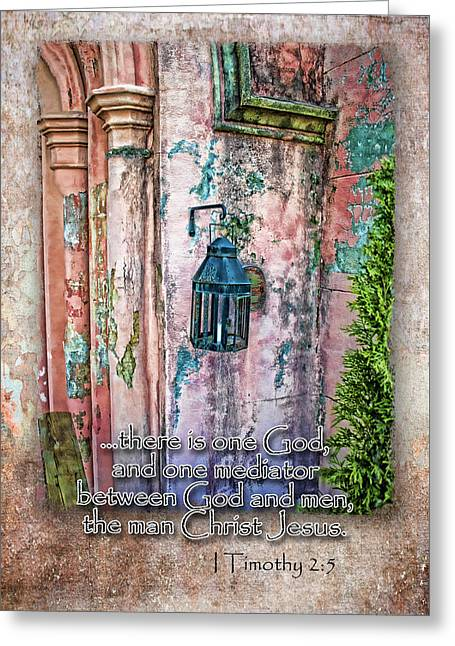 The Mediator Greeting Card by Larry Bishop