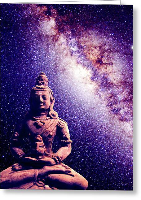 The Meditating Buddha  Greeting Card by Leah Marie King
