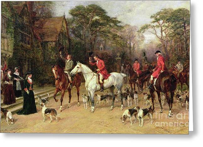 The Meet At The Manor House Greeting Card