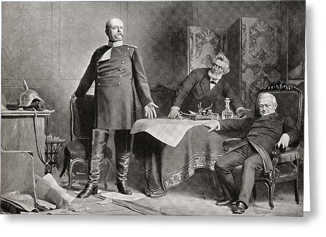 The Meeting Between Otto Von Bismarck Greeting Card by Vintage Design Pics