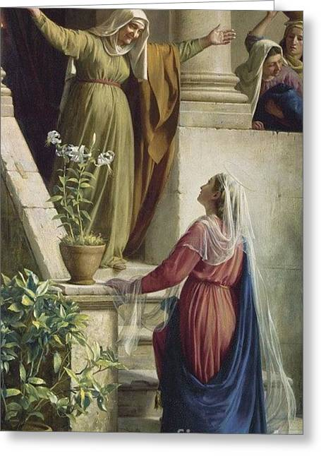The Meeting Of Mary And Elisabeth Greeting Card