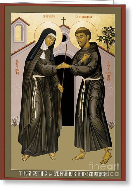 The Meeting Of Sts. Francis And Clare - Rlfac Greeting Card