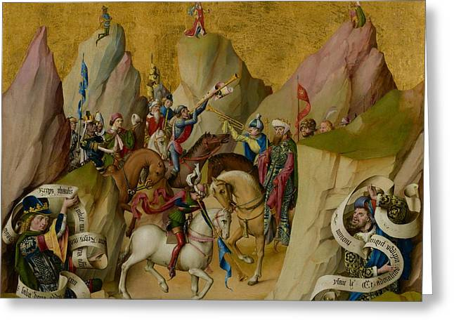 The Meeting Of The Three Kings With David And Isaiah Greeting Card
