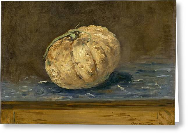 The Melon Greeting Card by Edouard Manet