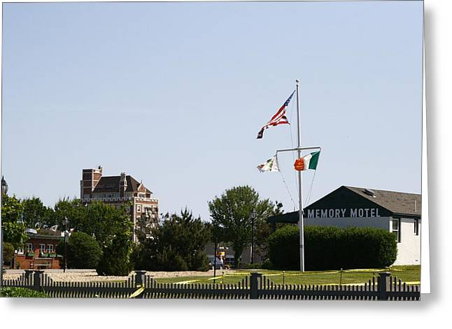 The Memory Motel And Montauk Tower Greeting Card