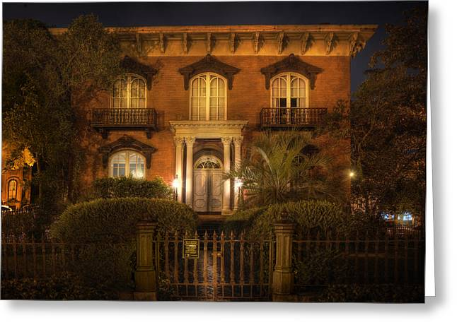 The Mercer House Greeting Card by Mark Andrew Thomas