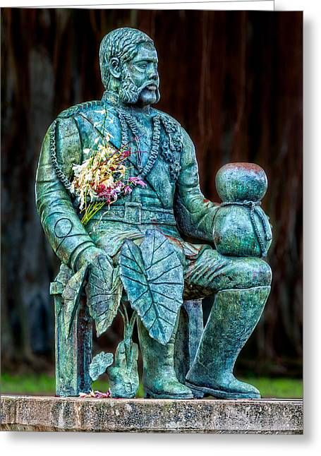The Merrie Monarch Greeting Card by Christopher Holmes