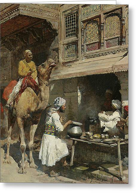 The Metalsmith's Shop  Greeting Card by Edwin Lord Weeks