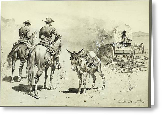 The Mexican Freight Wagon  Greeting Card