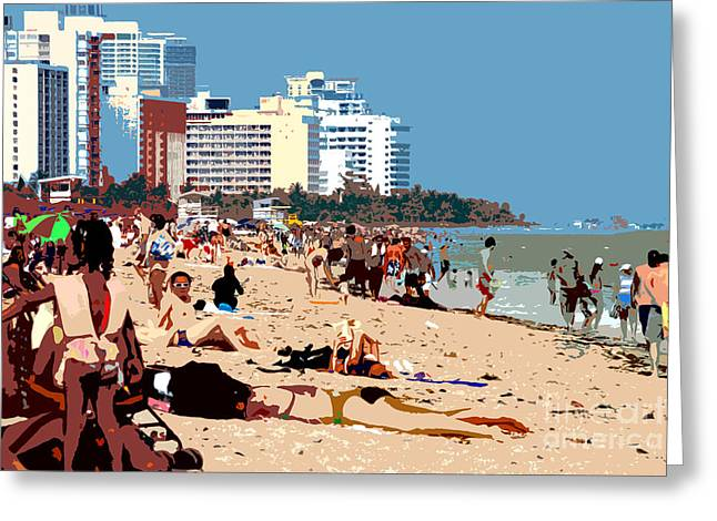 The Miami Beach Greeting Card by David Lee Thompson
