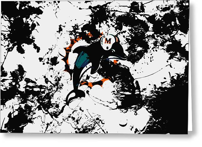 The Miami Dolphins 1a Greeting Card by Brian Reaves
